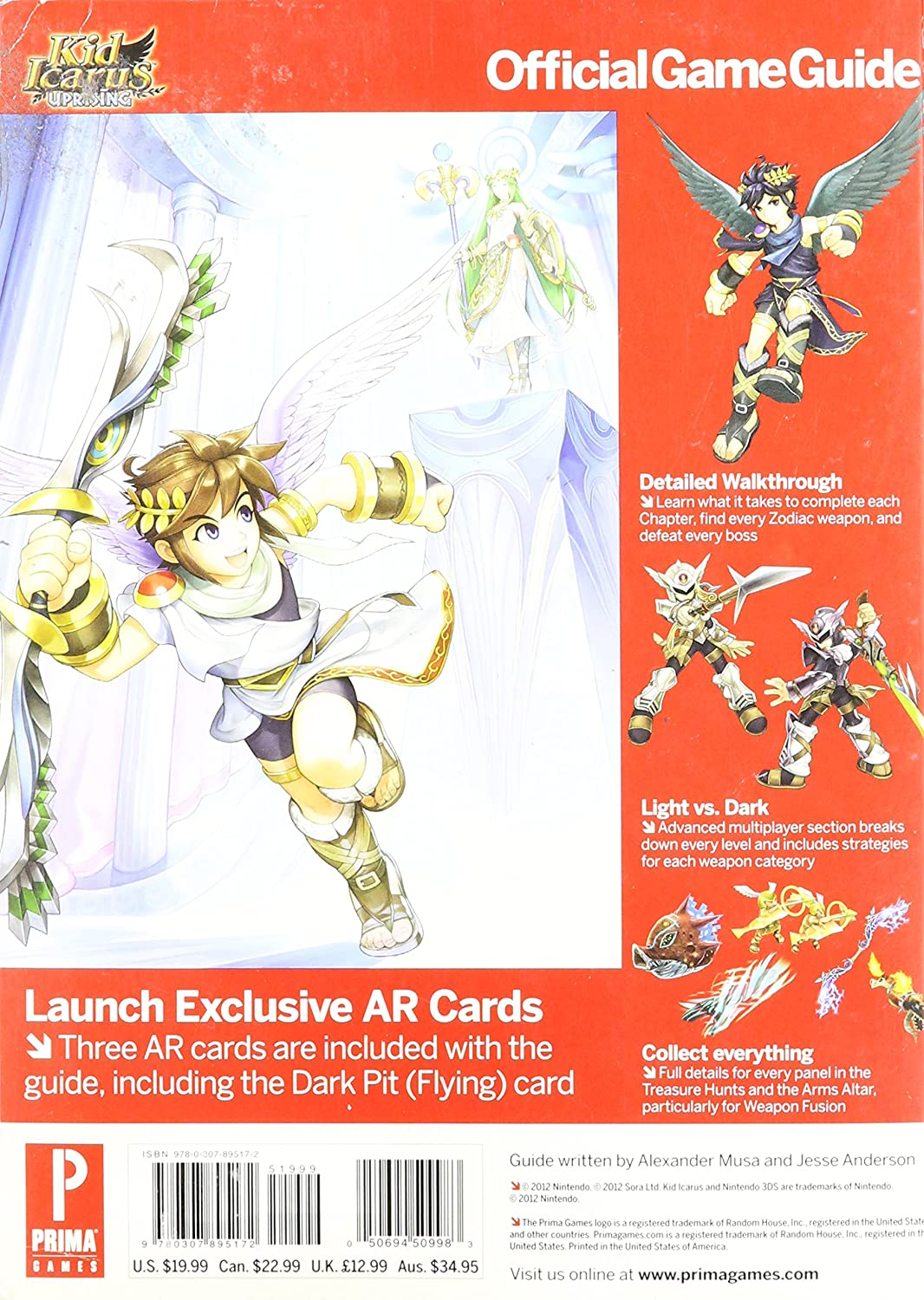 Kid Icarus Uprising Official Game Guide Amazonca Electronics