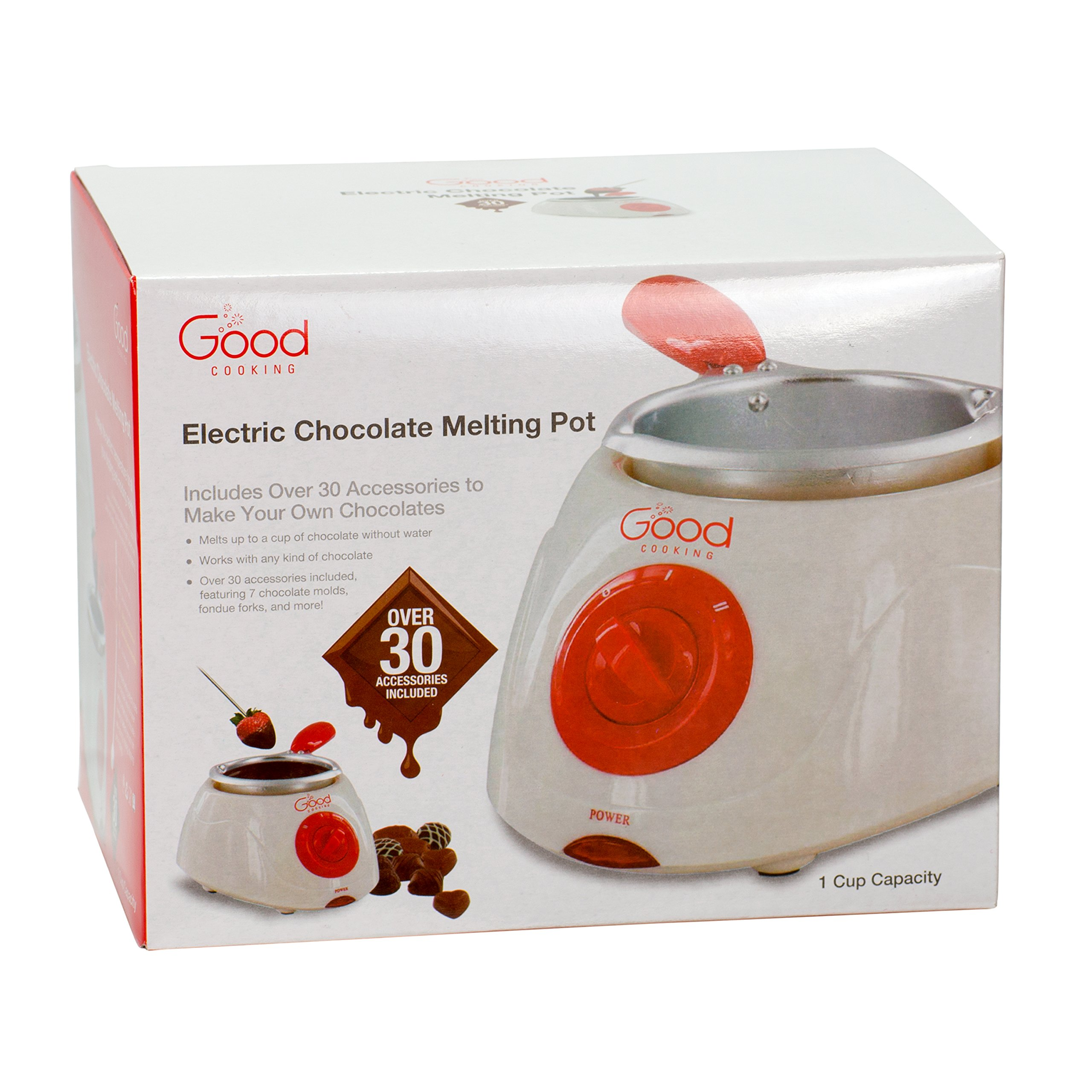 Chocolate Melting Pot- Electric Chocolate Fondue Fountain Pot with over 30 Free Accessories and 12 Recipes by Good Cooking (Image #2)