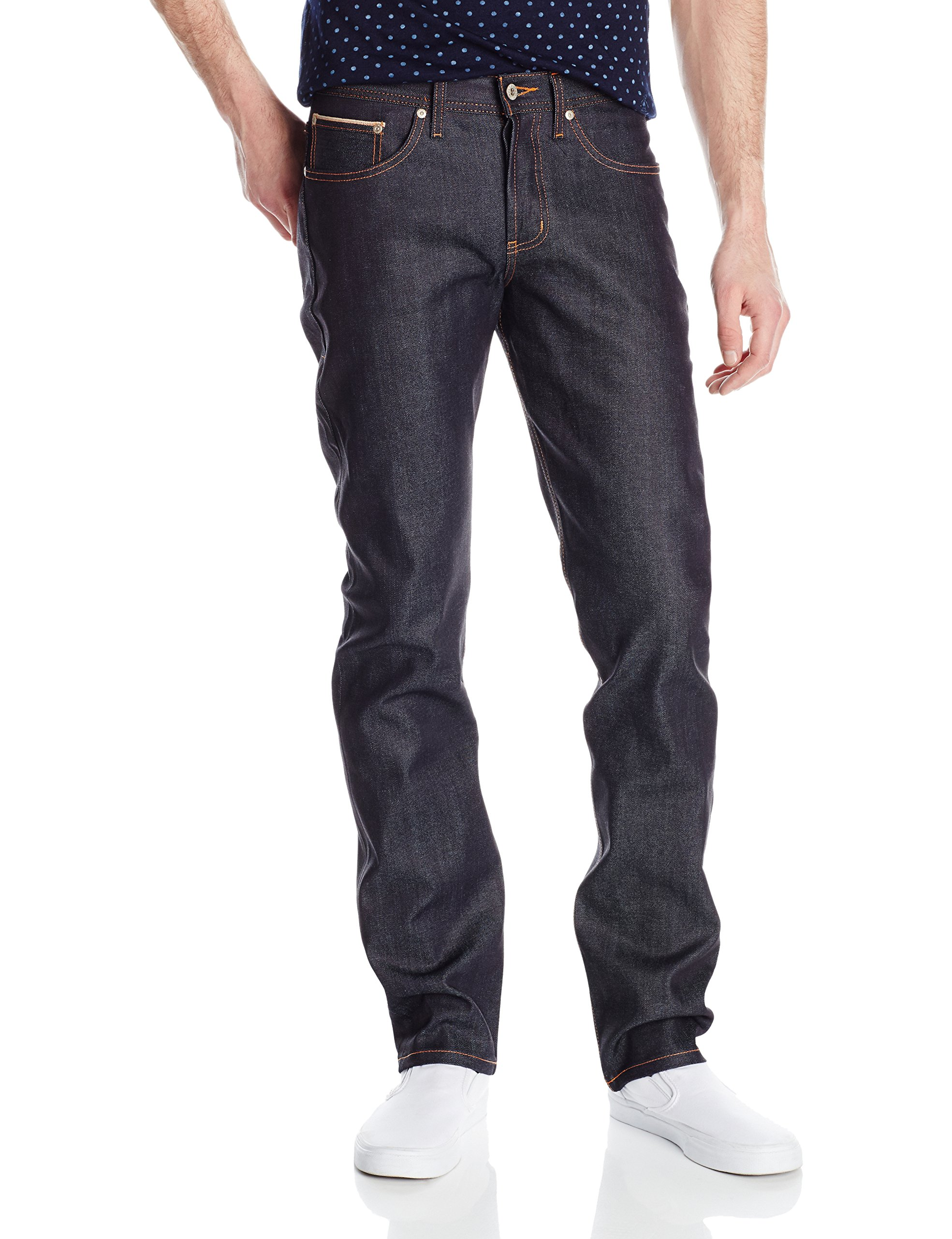 Naked & Famous Denim Men's Weirdguy Tapered Fit Jean In 11Oz Stretch Selvedge, Oz Stretch Selvedge, 34