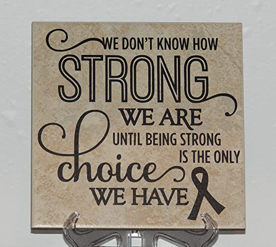 Amazon.Com: We Don'T Know How Strong We Are Until Being Strong Is