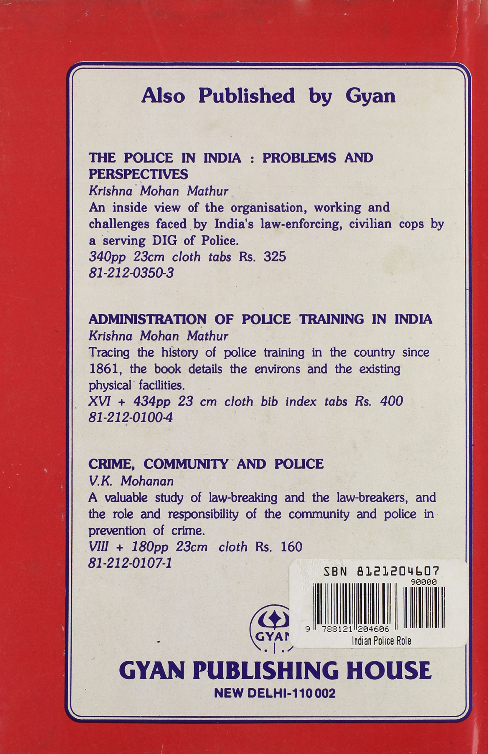 Amazon in: Buy Indian Police: Role and Challenges Book
