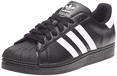 sale retailer 7c166 4cd44 adidas Superstar II Mens Leather sneakersShoes - Black - SIZE US 9.5