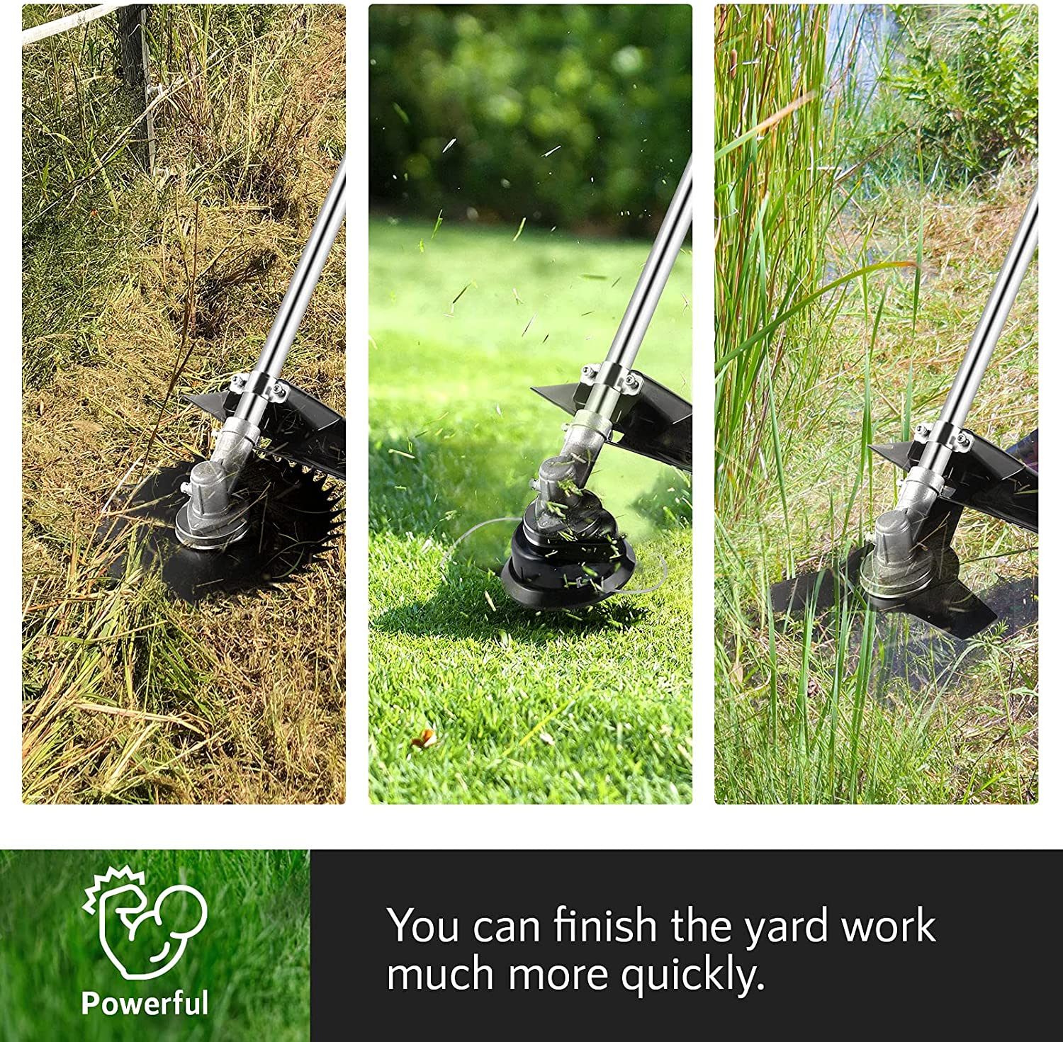 Mowers & Outdoor Power Tools 2-Cycle 3-in-1 Gas String Trimmer and ...