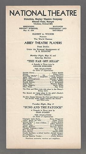 Barry Fitzgerald ABBEY THEATRE IRISH PLAYERS Dublin Denis ODea 1938 Washington
