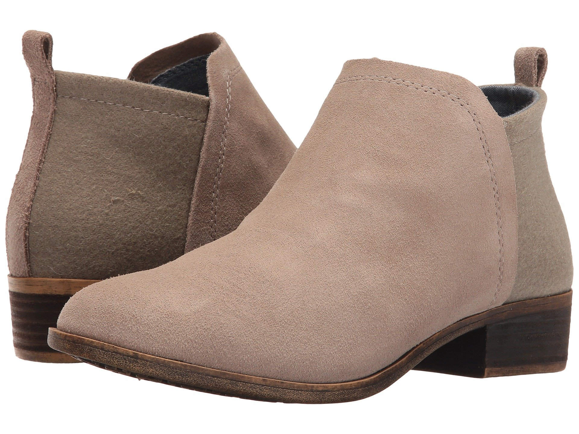 Toms Womens Deia Bootie (9 B(M) US, (Desert Taupe Suede/Wool))