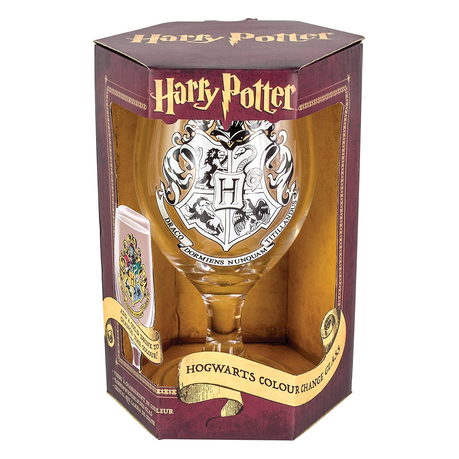 Official Harry Potter Hogwarts Colour Changing Drinking Glass - Boxed Gift PP3211HP