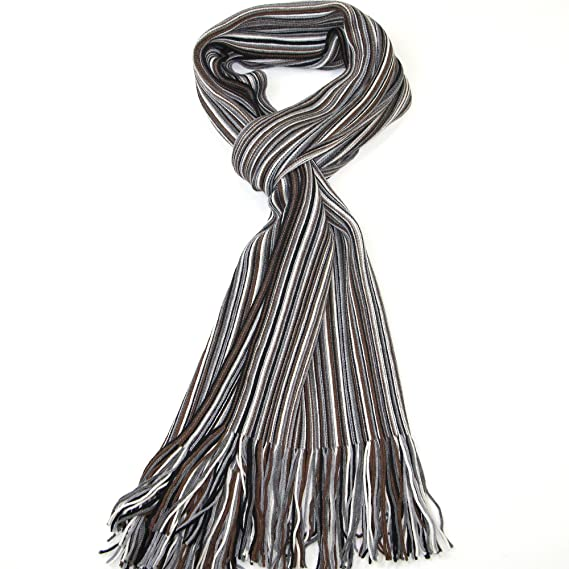 fb9bc104842b Men s Wool Scarf for Winter - Grey