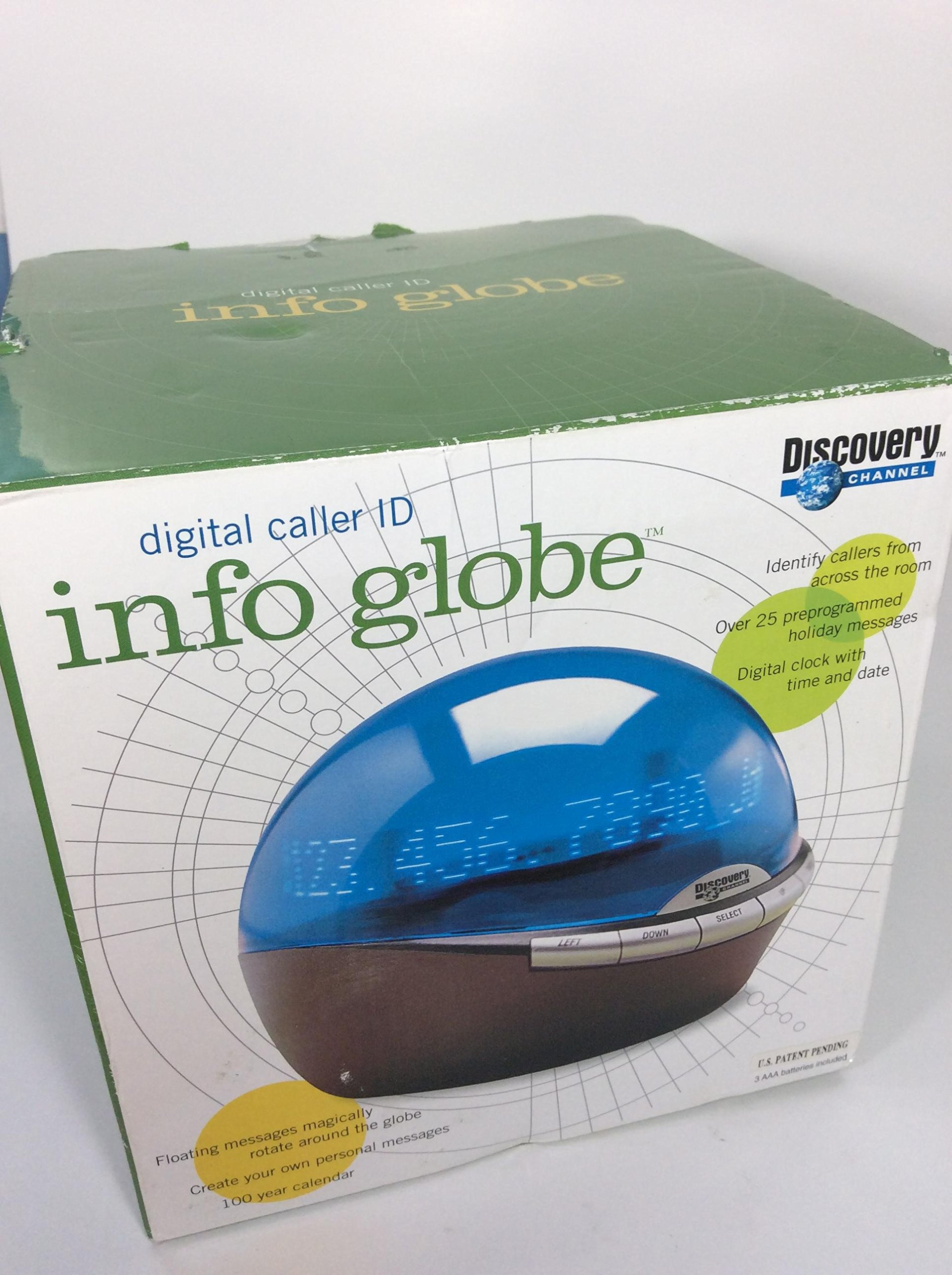 Digital Caller Id Info Globe with Clock by Discovery Channel (Image #3)