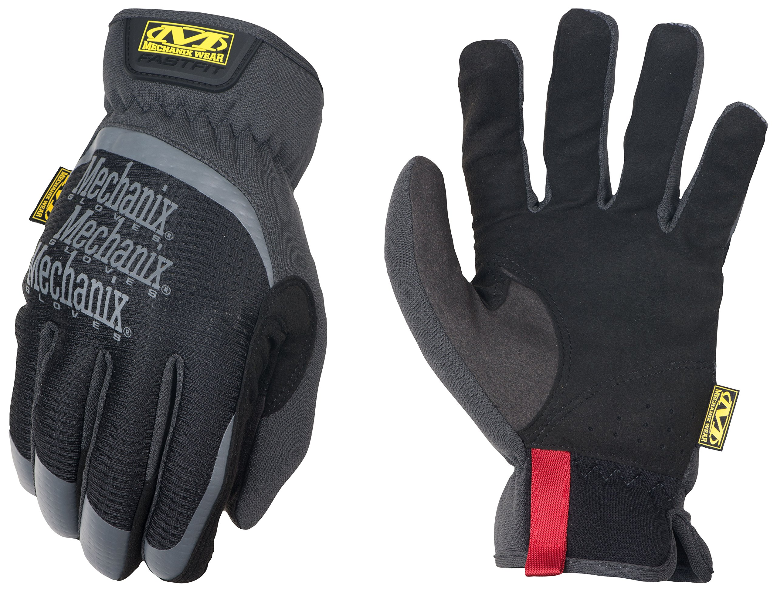Mechanix Wear 185184 Slip-On Elastic-Cuff Mechanic's Glove Fast Fit Gloves, L