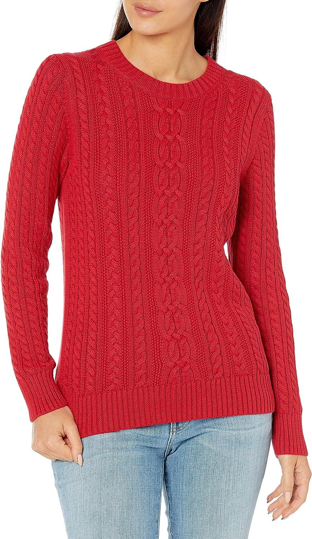 Essentials Fisherman Cable Crewneck Sweater Donna