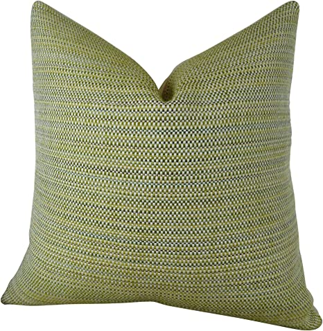 Amazon Com Thomas Collection Luxury Designer Throw Pillow Citrine Lime Green Ivory Pillow Green Woven Accent Pillow Neutral Modern Couch Pillow Made In Us 11355 Home Kitchen