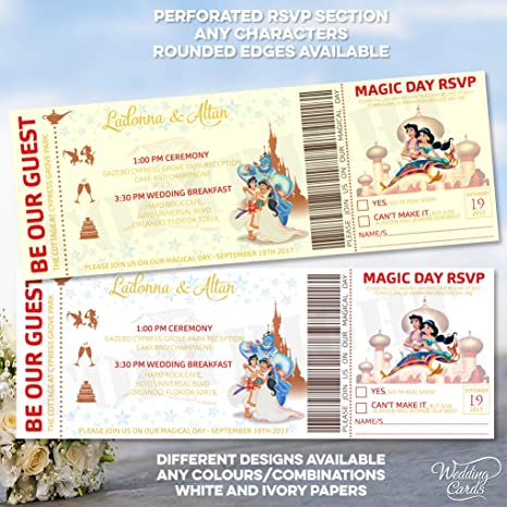 Aladdin And Princess Jasmine Personalised Themed Disney