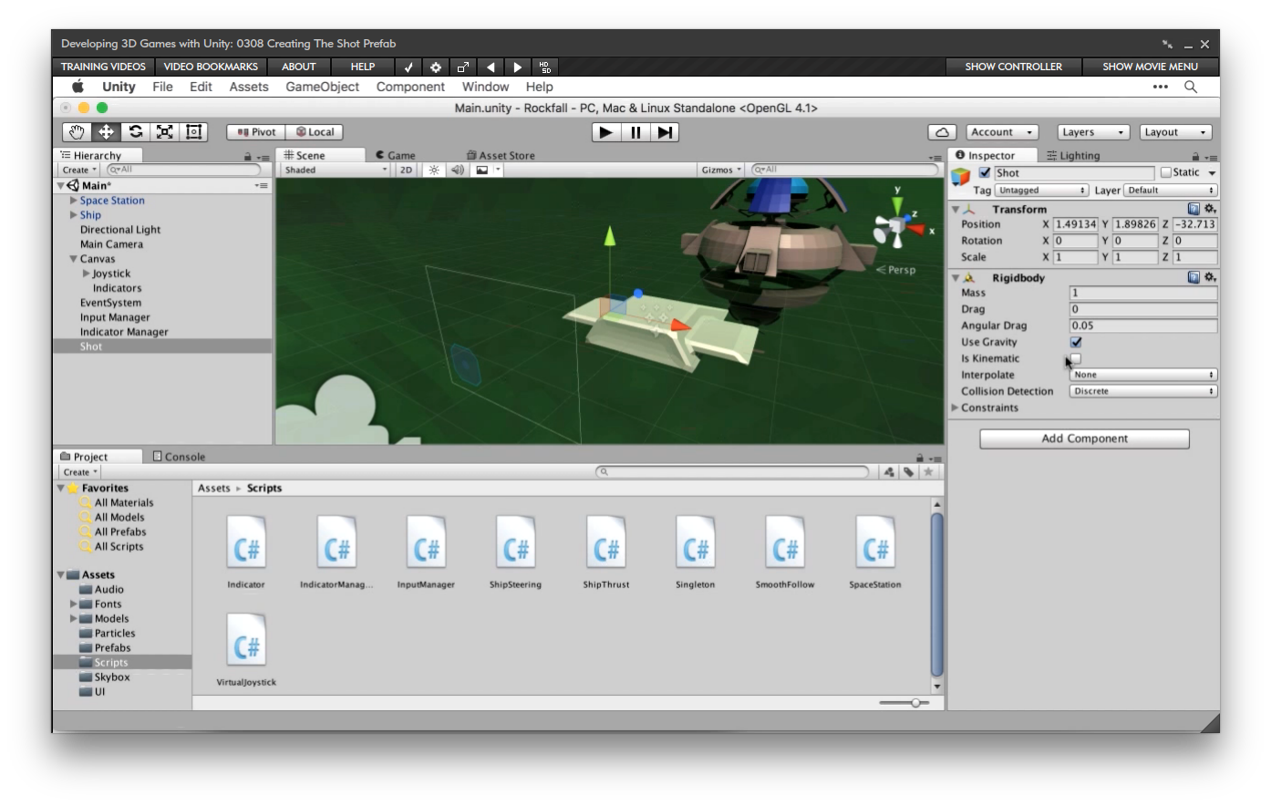 Amazon com: Developing 3D Games with Unity [Online Code