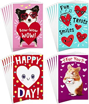 Hallmark Valentines Day Cards Pack 6 Valentine Cards with Envelopes Happy Heart Day