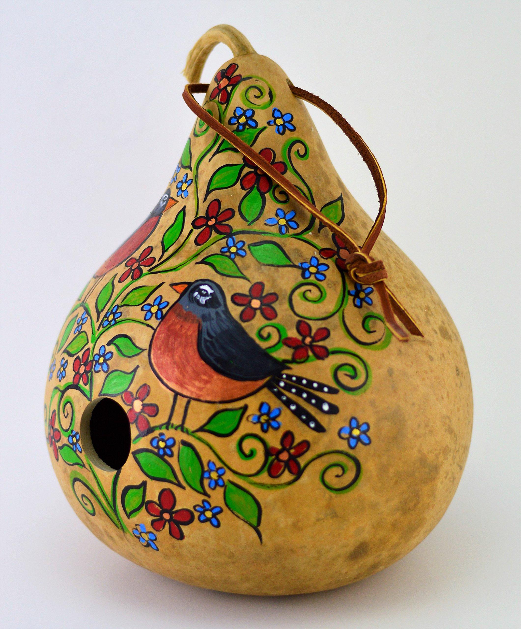 Birdhouse Gourd Art Natural Garden Garden Art Wren