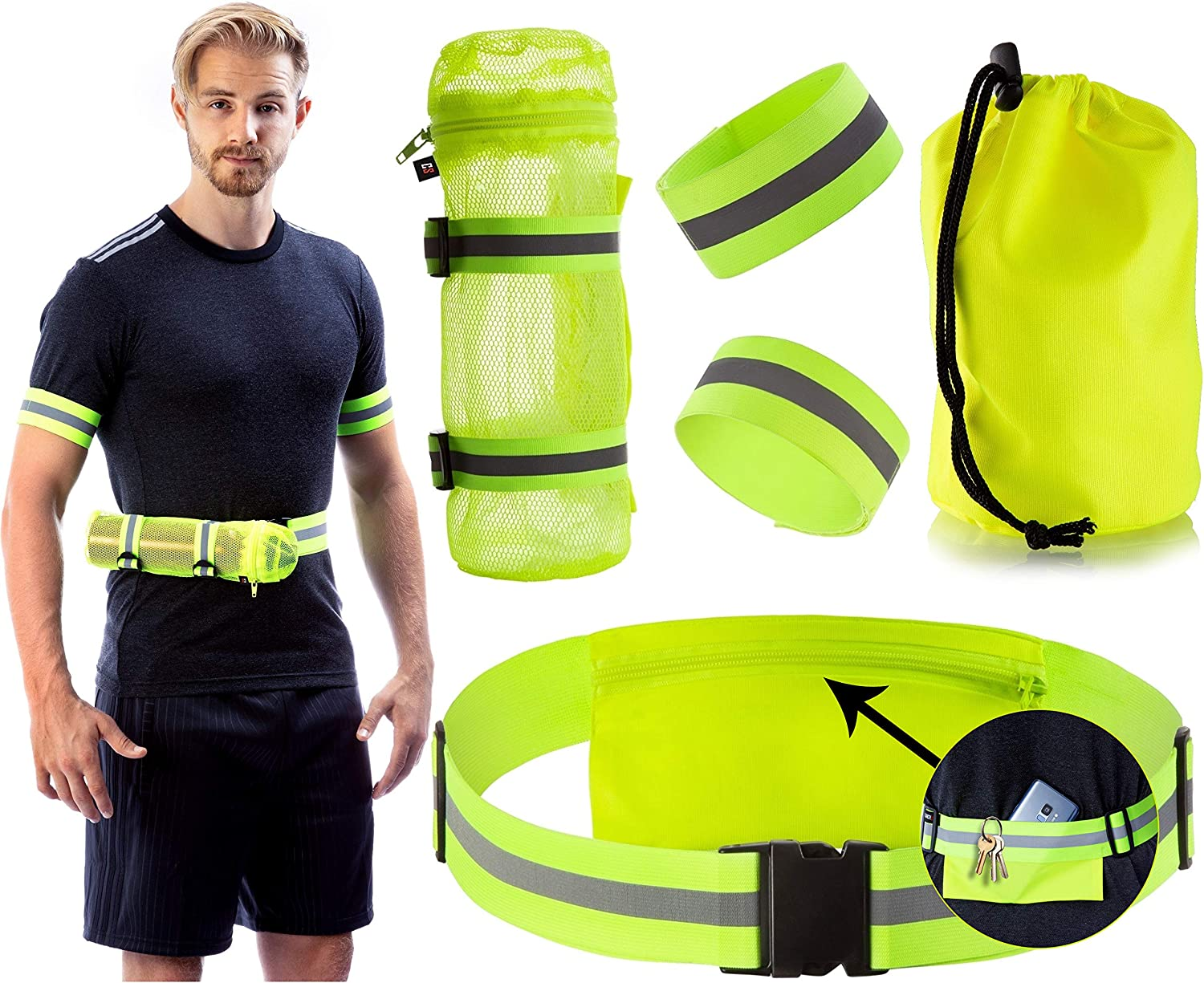 cyclists walkers Hi-Visibility Reflective Sling Bag for runners Le Flash