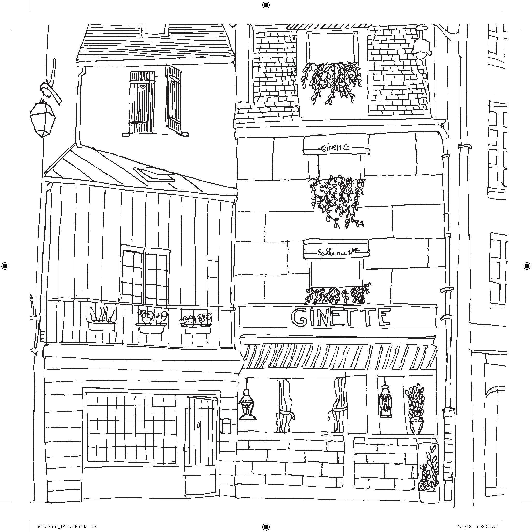 Secret places coloring pages | 2201x2201