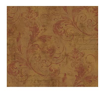 York Wallcoverings Ww4496smp West Wind Scroll And Script