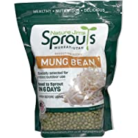 Nature Jims Mung Bean Sprout Seeds – 16 Oz Sprouting Seeds – Premium Mung Bean Seeds – Resealable Bag for Longer…