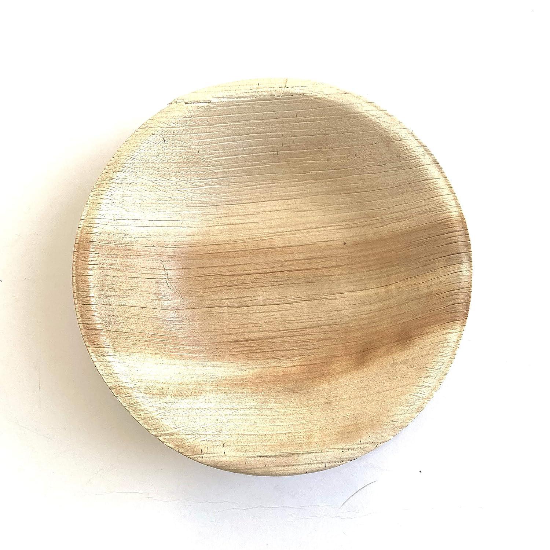 Assiette Creuse Carr/ée 15 x 15 x 4 cm Motivo: Foglia di Palma Extiff USA e Getta Set di 25 Piatti in Foglia di Palma