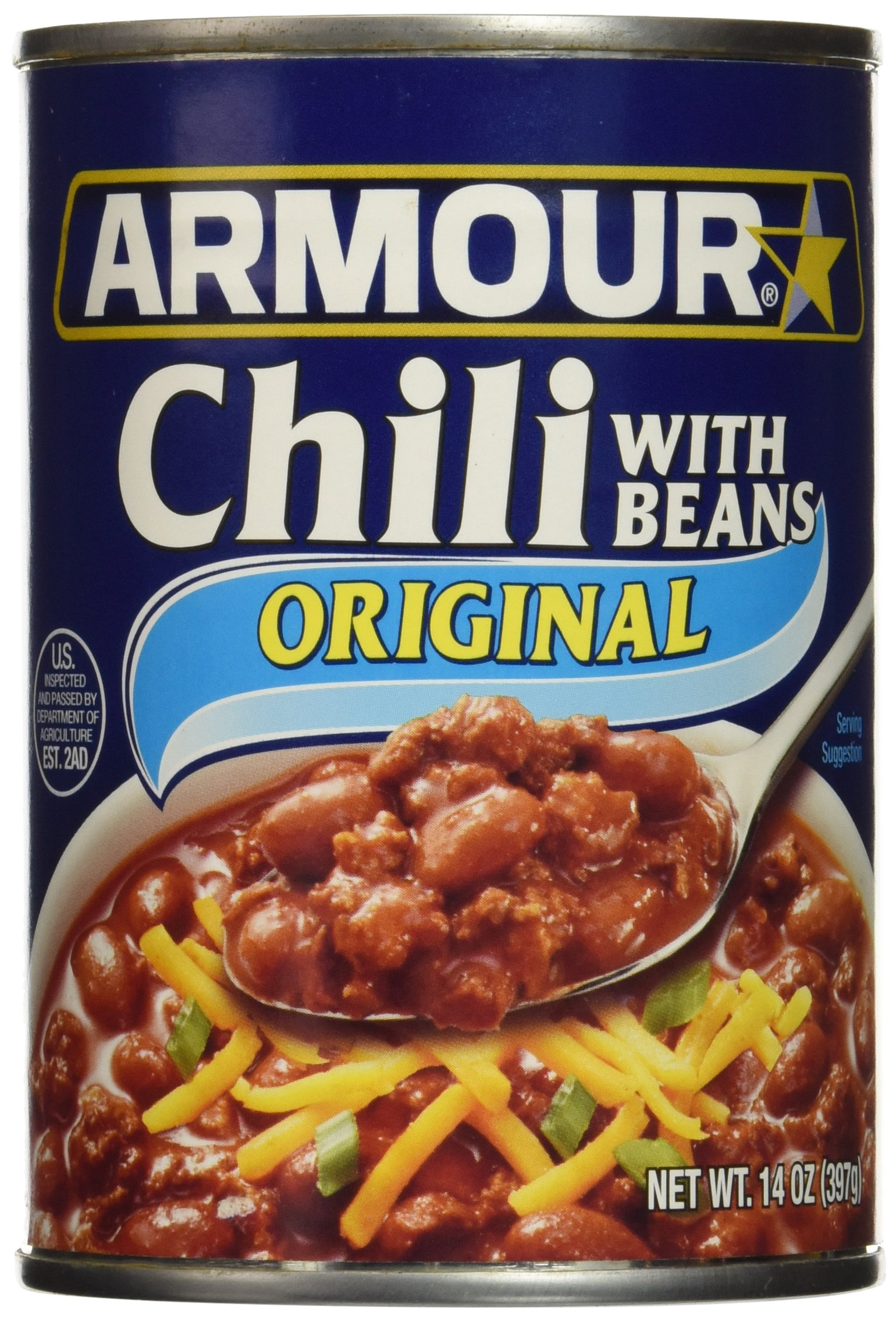 Armour Chili with Beans, 14 Ounce (Pack of 12)