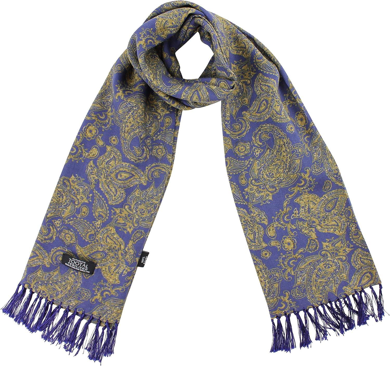 Tootal - Bufanda de rayón, diseño de cachemira, color azul marino: Amazon.es: Ropa y accesorios