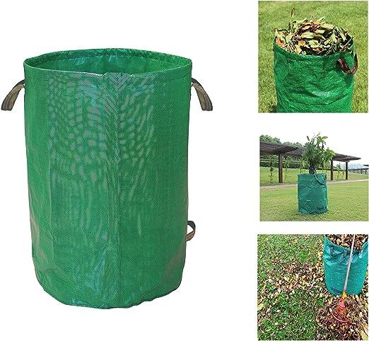 Vita Perfetta – Saco de jardín – 110 litros – Bolsa de residuos para el jardín de polipropileno (PP) muy robusto – Bolsa para hojas plegable y portátil: Amazon.es: Jardín