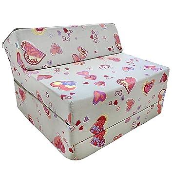Natalia Spzoo El sillón de colchón plegable para invitados con forma de sillón sofá cama plegable con colchón de la cama (C901): Amazon.es: Hogar