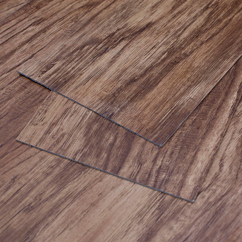 MAYKKE Heirloom Pine 5 Sq Ft Vinyl Plank Flooring 5x5 inch