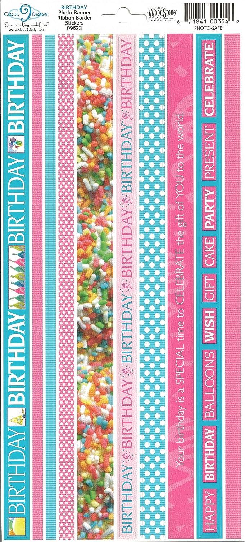 Scrapbooking Bitz Happy Birthday Stickers