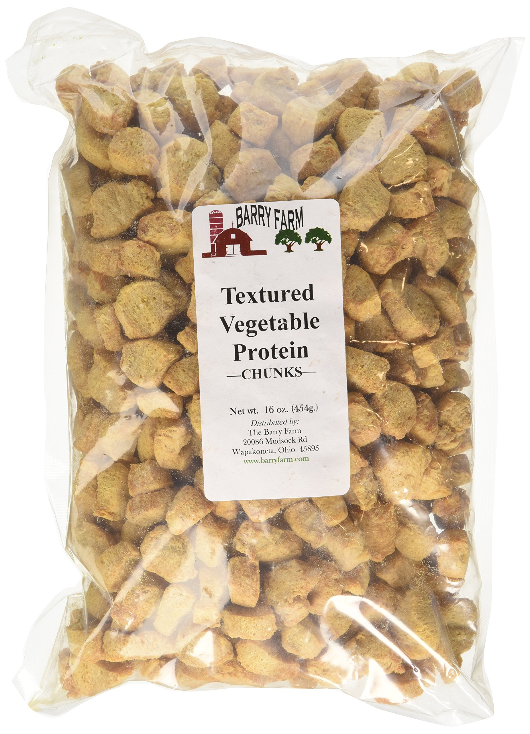 Textured Vegetable Protein Chunks, 1 lb. by Barry Farm