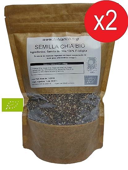 Pack 2 x 1Kg Semilla de Chia Ecológica Certificada