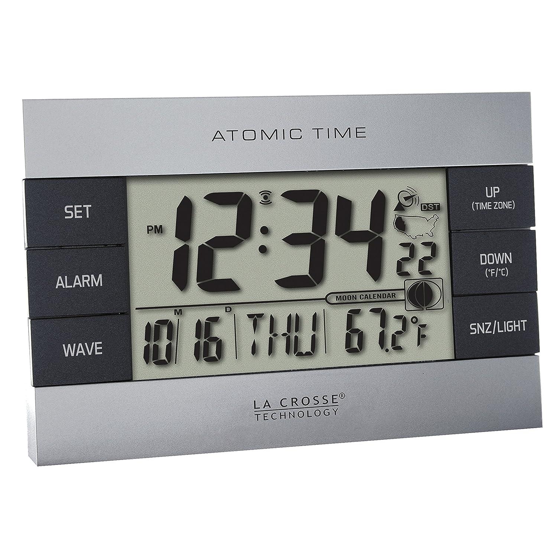 Amazon la crosse technology 617 1280 atomic digital alarm amazon la crosse technology 617 1280 atomic digital alarm clock silver home kitchen amipublicfo Images