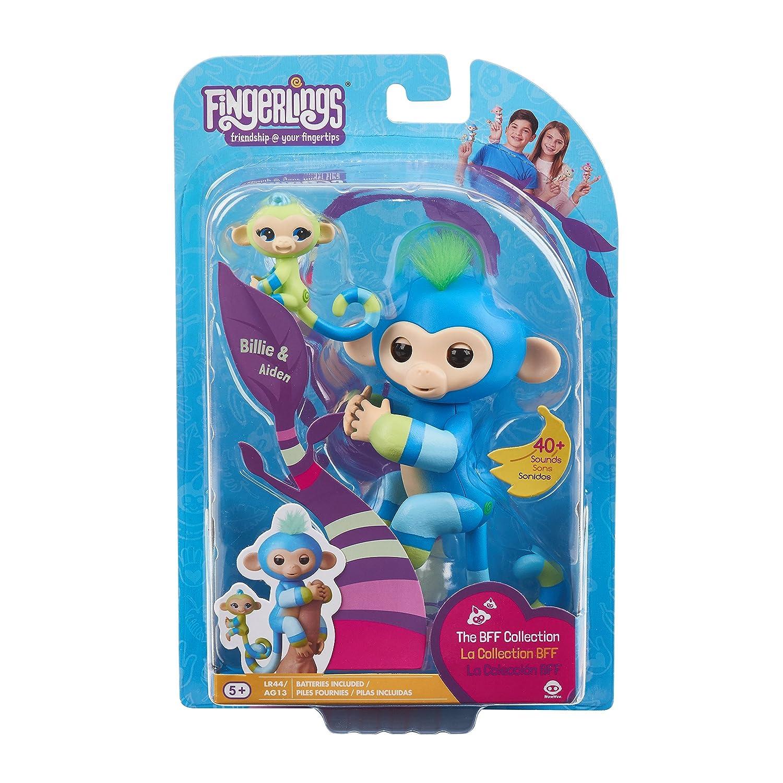 Mauve-Blue Violet /& Hope WowWee Fingerlings Baby Monkey /& Mini BFFs