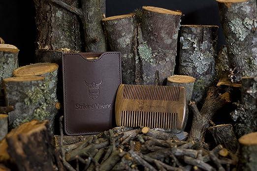 striking viking beard comb wooden