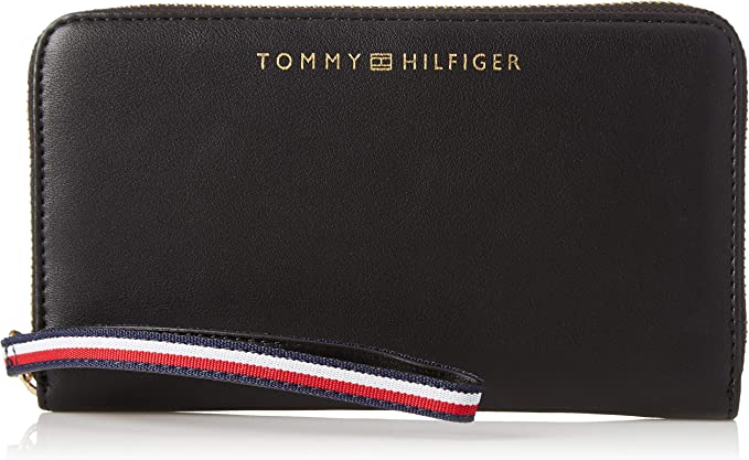 TOMMY HILFIGER Woman/'s Wristlet Wallet *Black Multi*Cell Phone Pouch *New