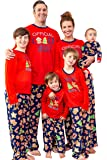 MJC International Family Matching Christmas Cookie Cutter Fleece Pajama Sets - Sizes for All Ages!