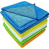 ST 598501 Microfiber Mesh Scrubbing Dish Cloths - 12-Inch x 12-Inch, Assorted, 10PK