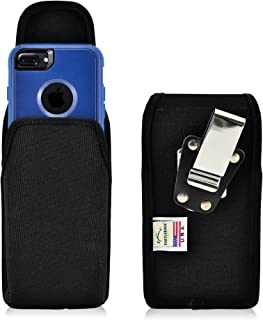 product image for Turtleback Belt Clip Case Compatible with Apple iPhone 8 & iPhone 7 w/OB Commuter case Black Vertical Holster Nylon Pouch with Heavy Duty Rotating Belt Clip Made in USA