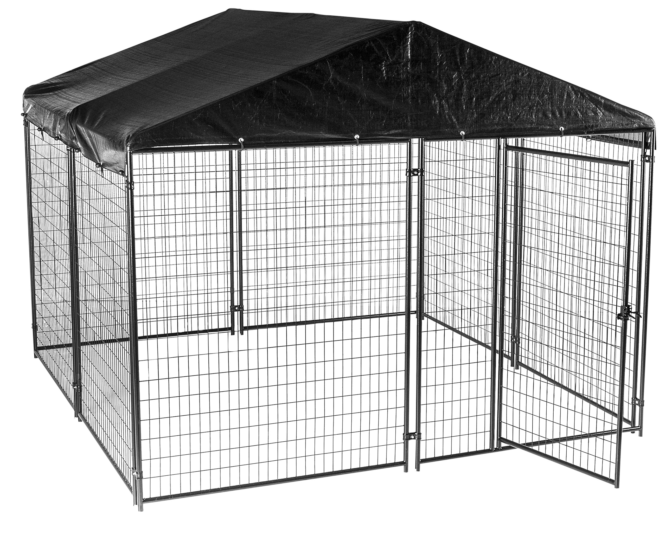 Lucky Dog Modular Box Kennel w/Roof and Cover (6'H x 10'L x 10'W) 207 lbs by Lucky Dog