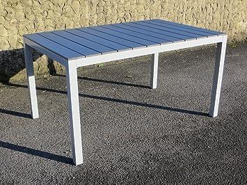 Amazon De Gartentisch Iceland Silber 140x90 Aluminium Polywood