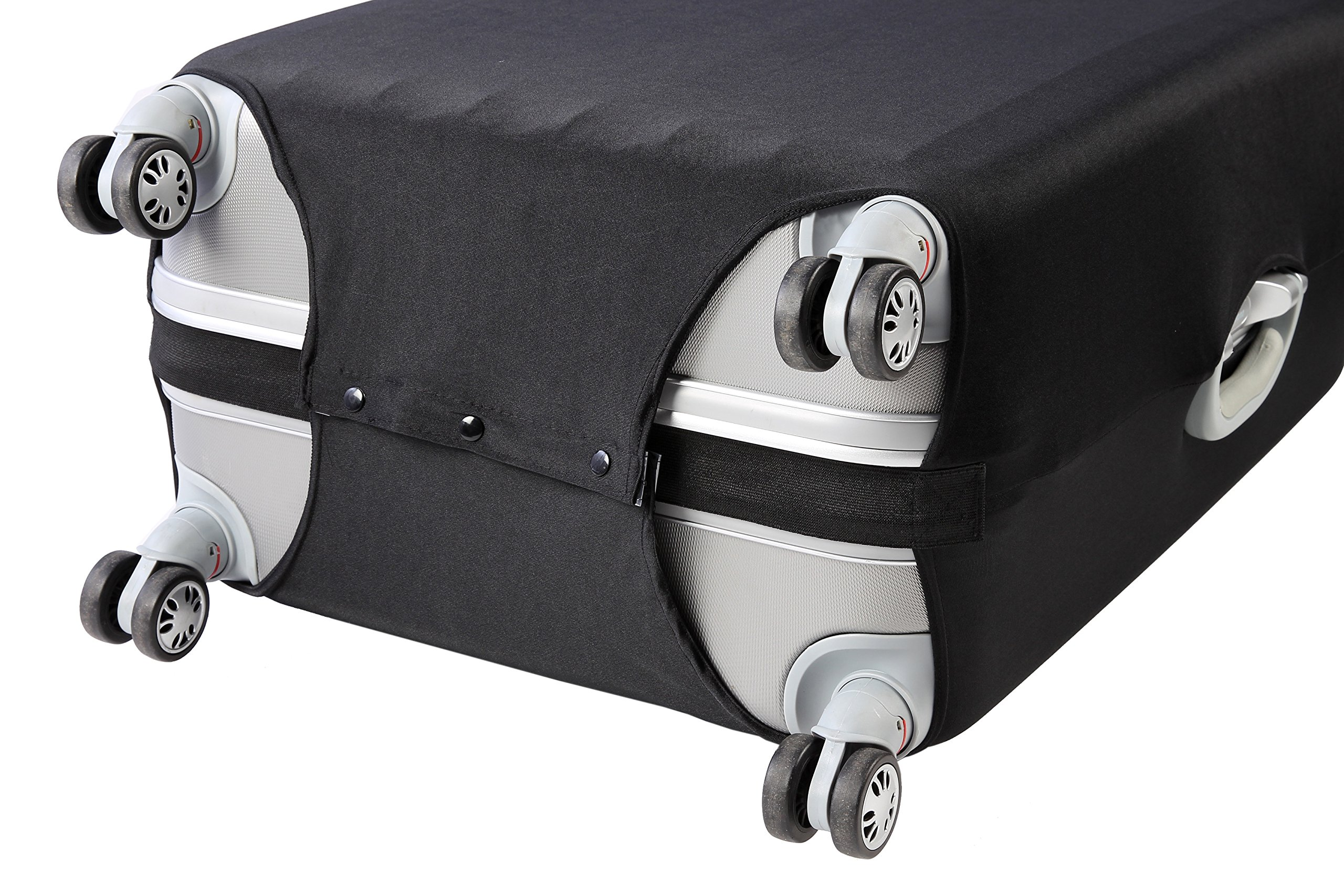 Travel Luggage Protective Cover - Stretchable Suitcase Protector Case, Black, 26 Inches by Juvale (Image #9)