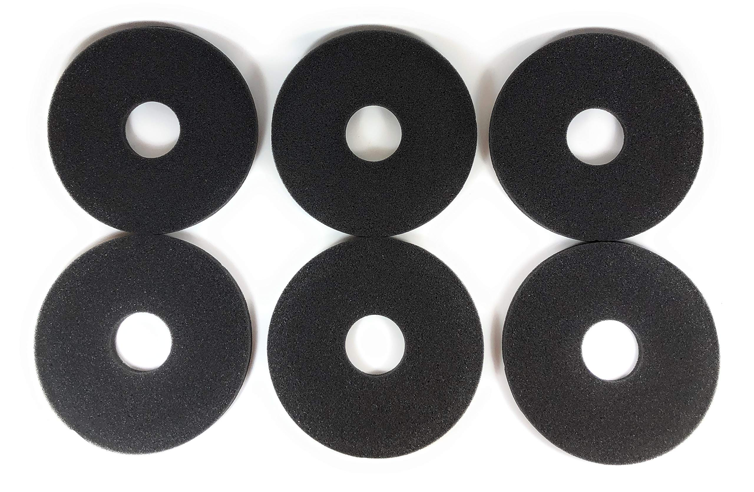 Margarita Salt Glass Bar Rimmer Replacement Sponges Set of 6, Black