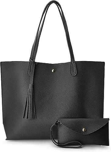 Personalised Women Faux Leather Ladies Medium Shoulder Tote Handbag Work Bag