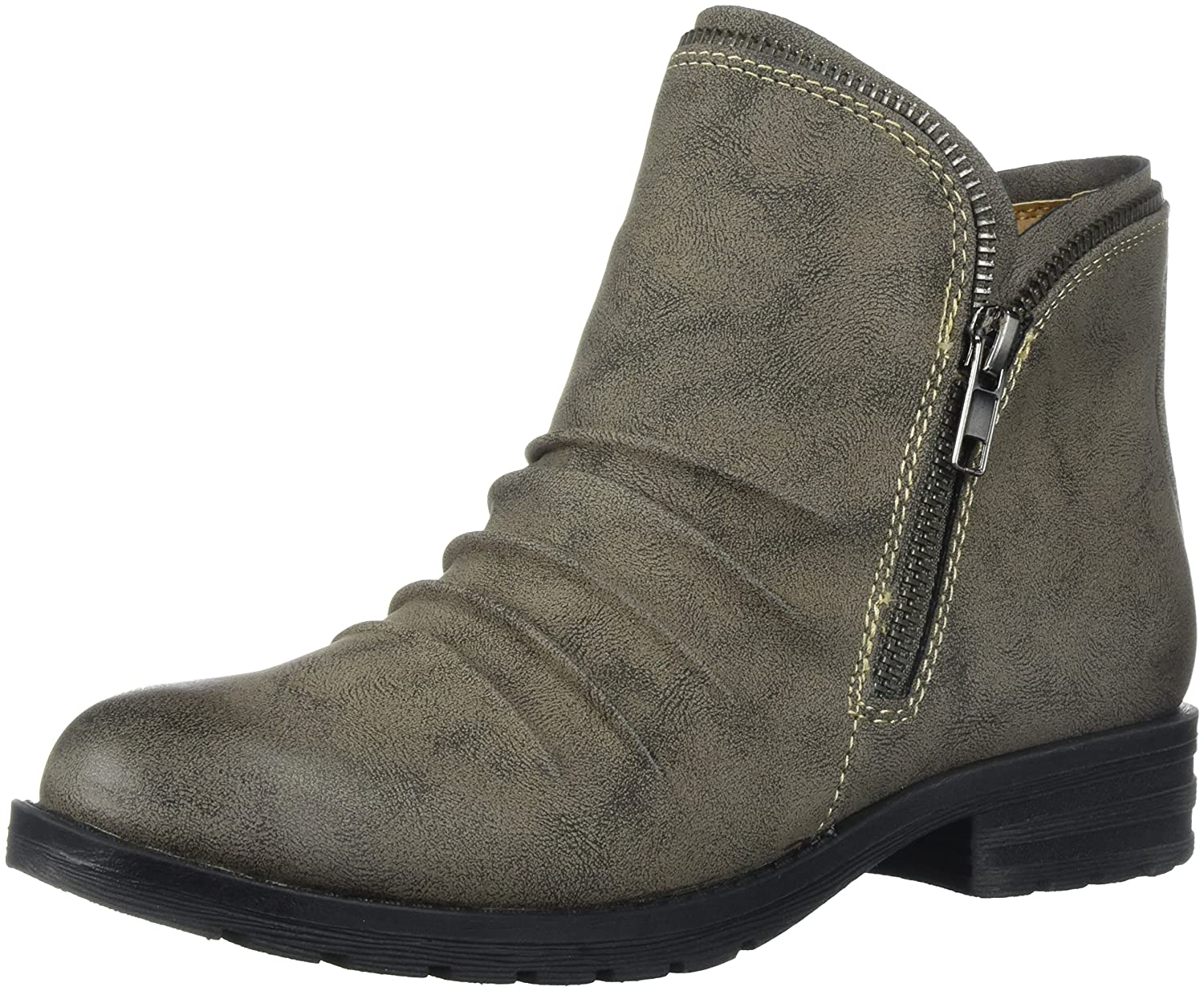 NATURAL SOUL Women's Brisha Ankle Boot B076DW3FW2 8.5 B(M) US|Grey