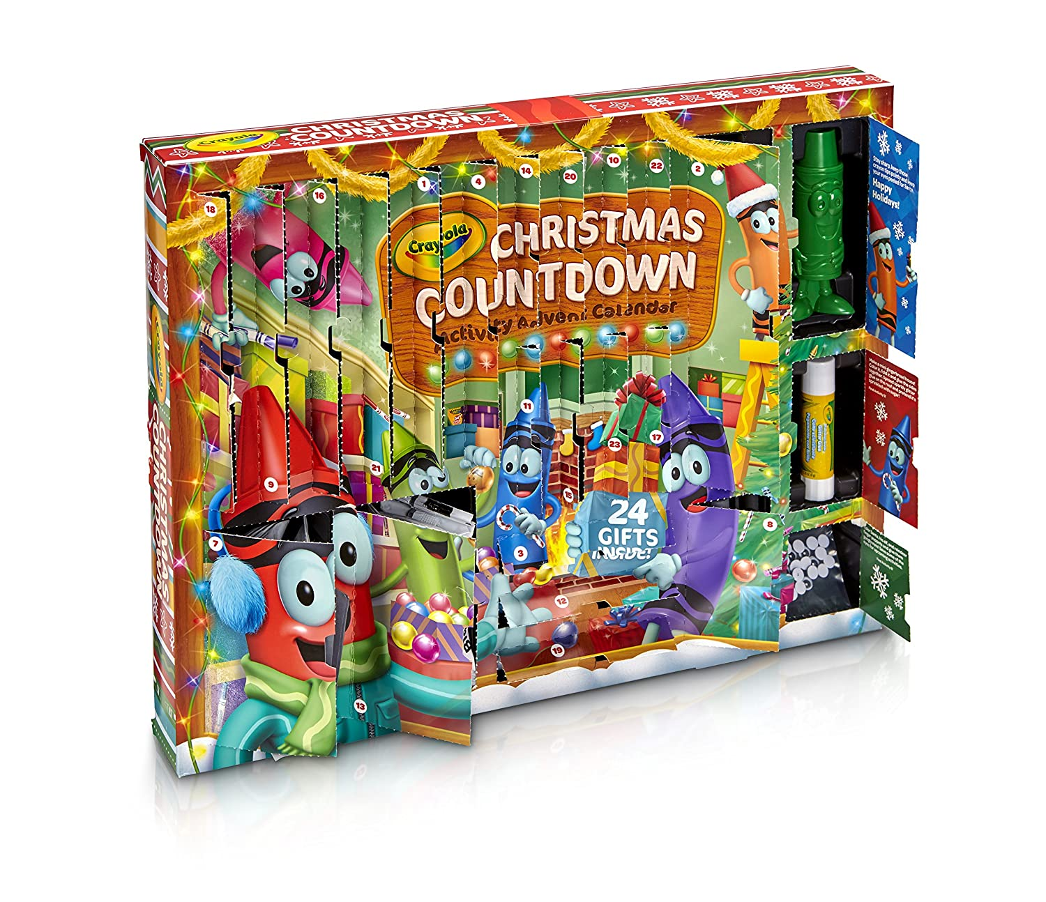 Amazoncom Crayola Christmas Countdown Activity Advent Calendar Toys & Games