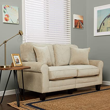 Amazon Com Serta Rta Copenhagen Collection 61 Loveseat In Marzipan