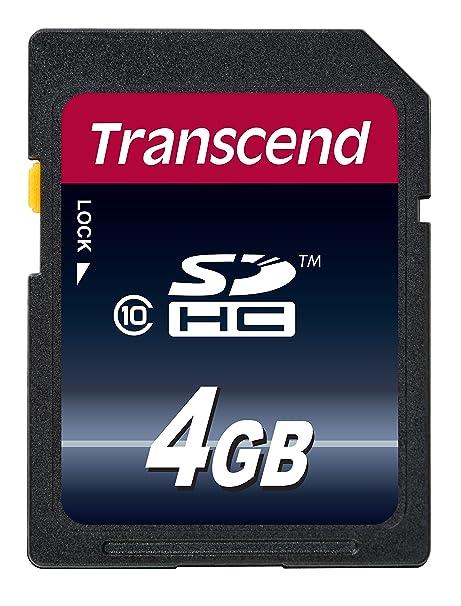 Transcend TS4GSDHC10 - Tarjeta de memoria de 4 GB (clase 10, 20 MB/s)