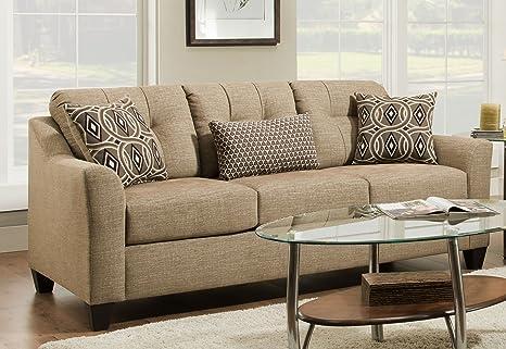 Amazon.com: Simmons 4315-04QE - Sofá de tapicería nacional ...