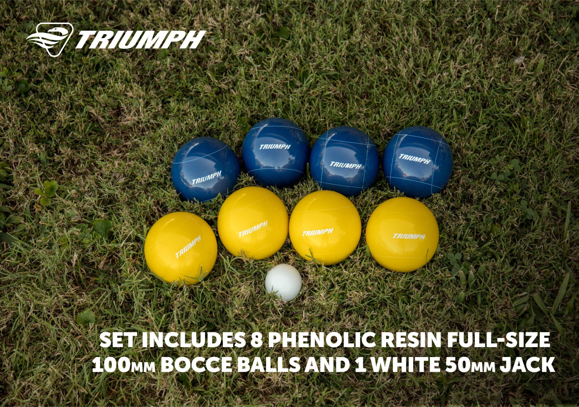 Triumph All Pro 100mm Bocce Set Includes Eight Bocce Balls, One 50mm Jack, and Carry Bag by Triumph Sports (Image #4)